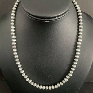 Sterling Silver 6 mm Bead Necklace